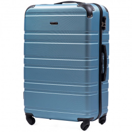 608, Large travel suitcase Wings L, Silver blue