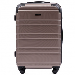 608, Middle size suitcase Wings M, Champagne