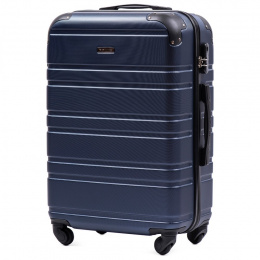 608, Middle size suitcase Wings M, Blue