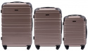 608, Luggage 3 sets (L,M,S) Wings, Champagne